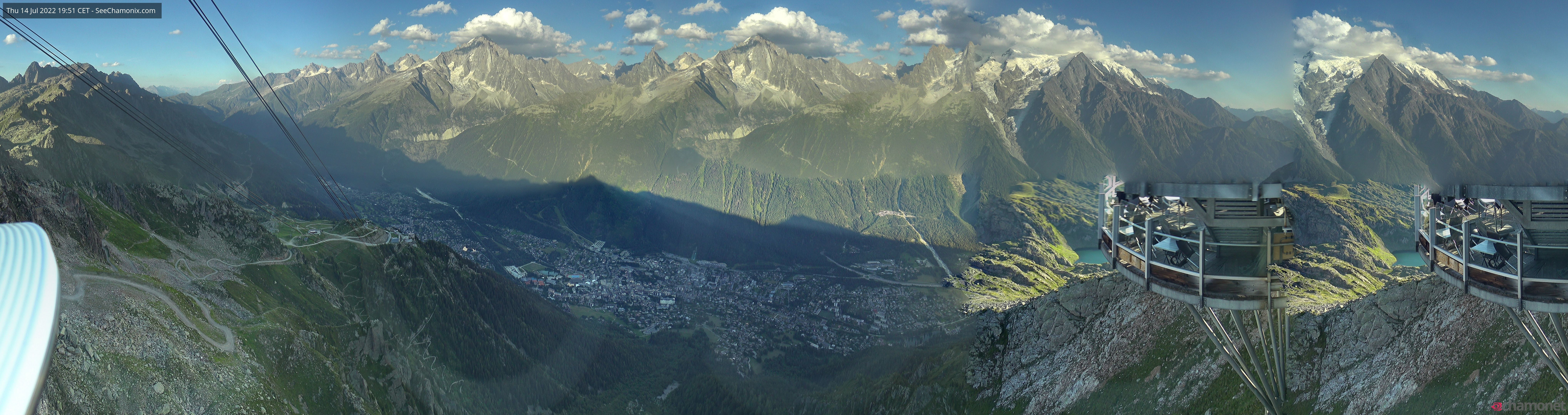 Chamonix Mont-Blanc webcam panorama